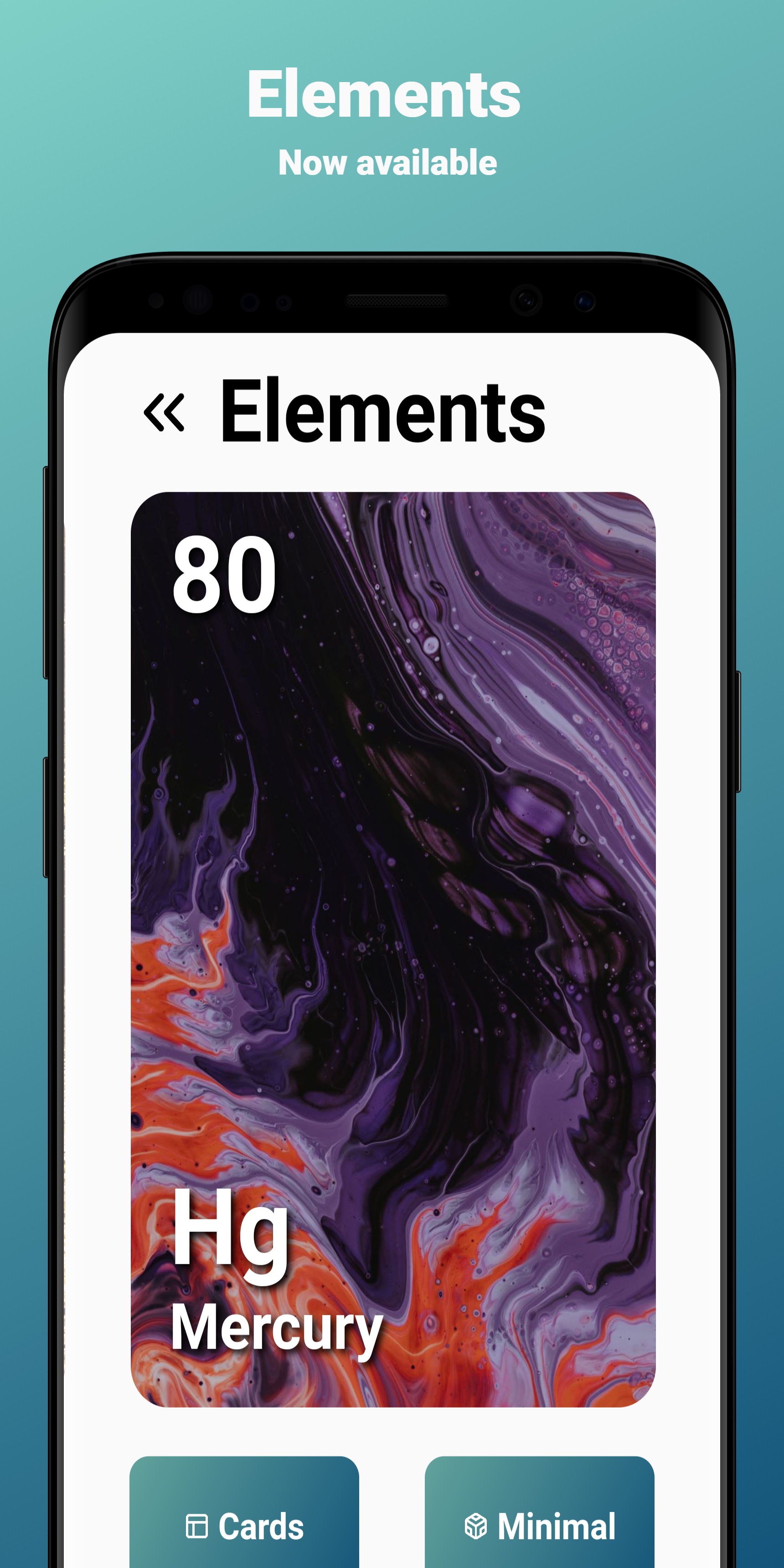 A modern app made with Flutter to track the chemistry's element
