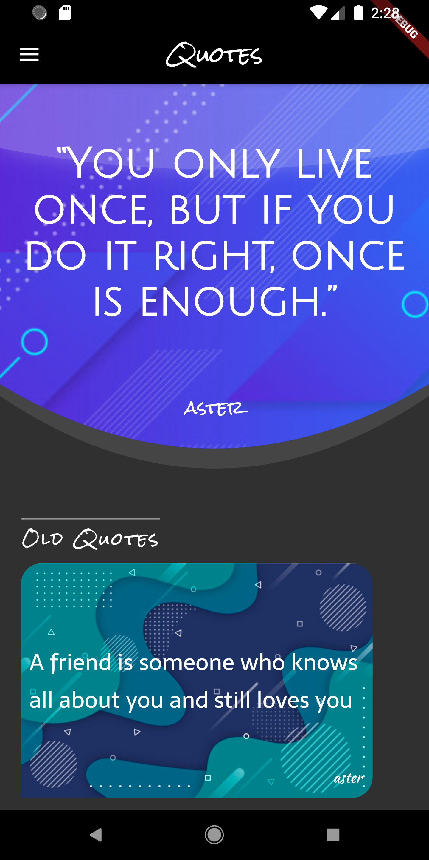 A Quote sender app built using flutter