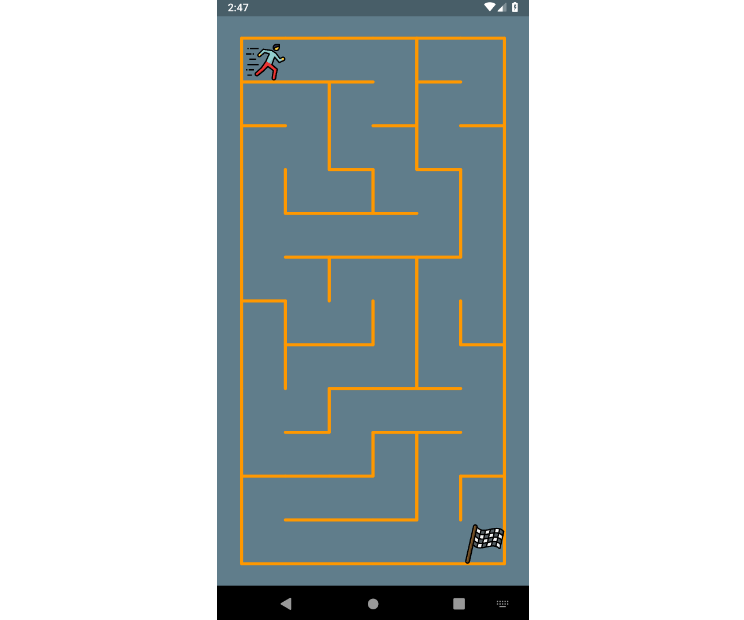 A simple maze game in Flutter