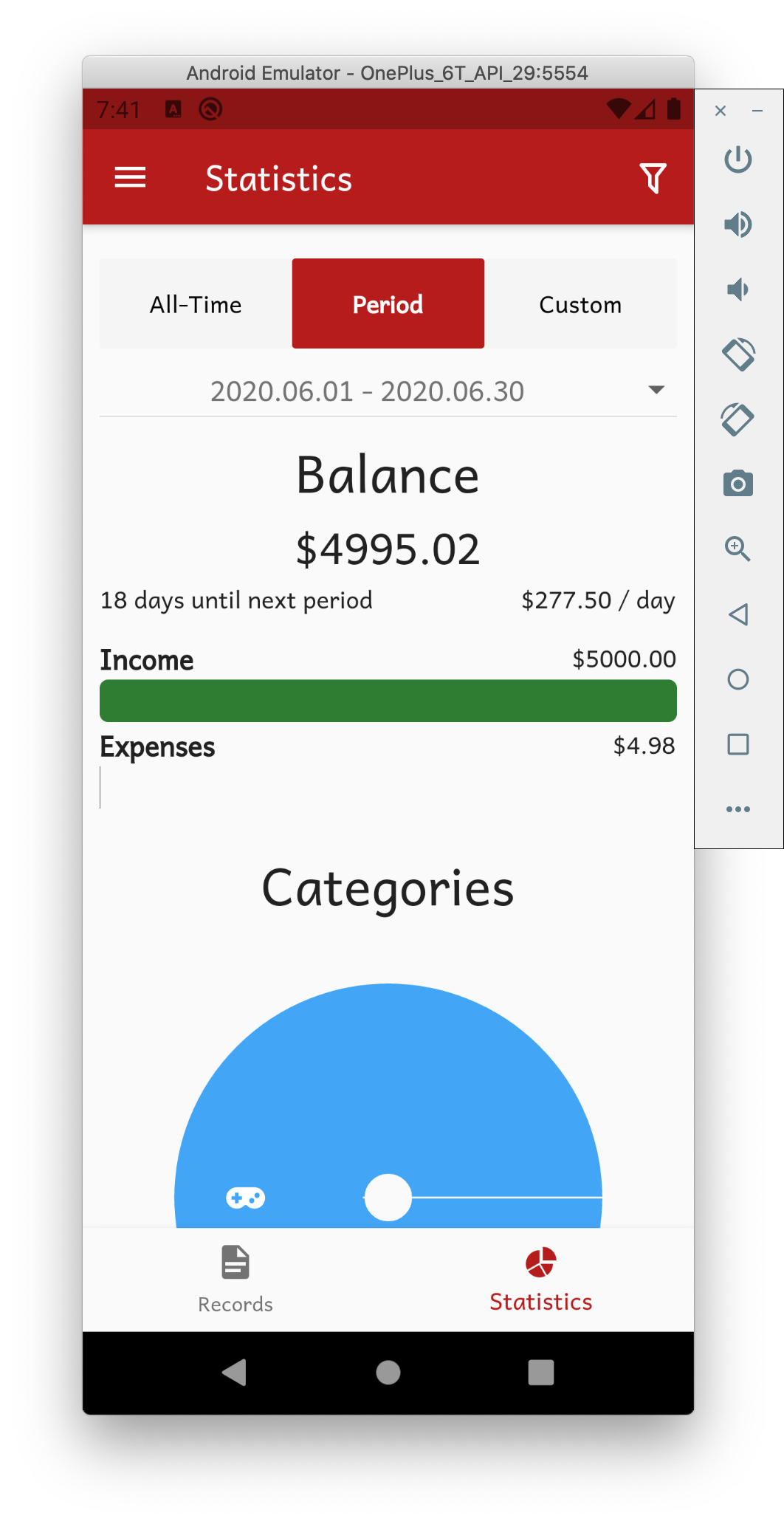 A fund tracking application built with Flutter