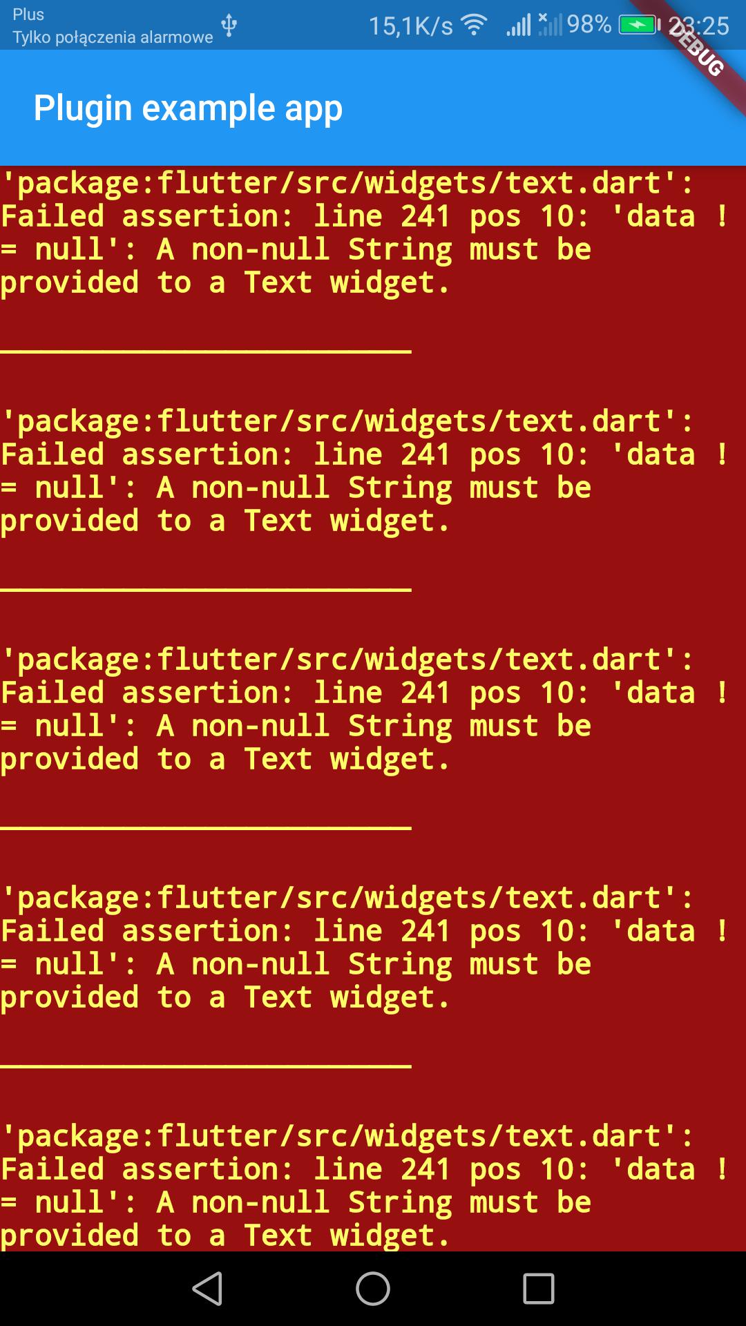 Flutter error catching and handling plugin