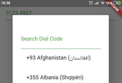 A Dart widget for entering international telephone numbers with dropdown