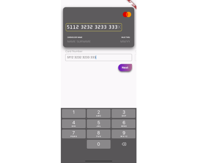 A beautiful UX through animation of credit card information input form with flutter