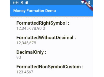 A Flutter extension to formatting various types of currencies according