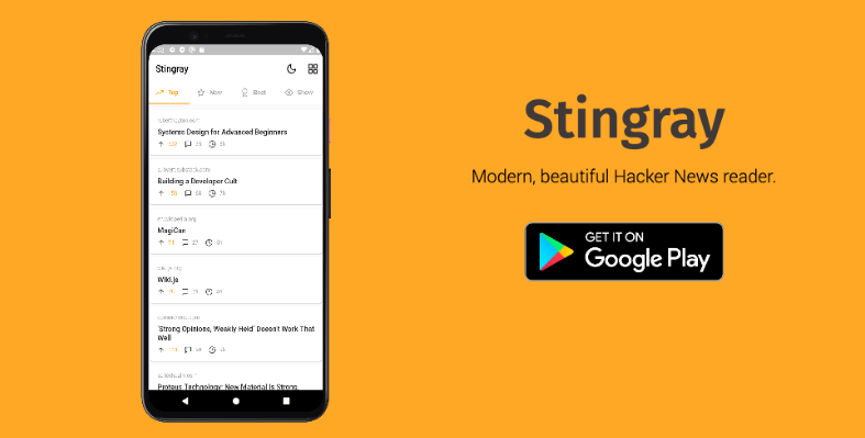 A beautiful Hacker News reader app built in Flutter