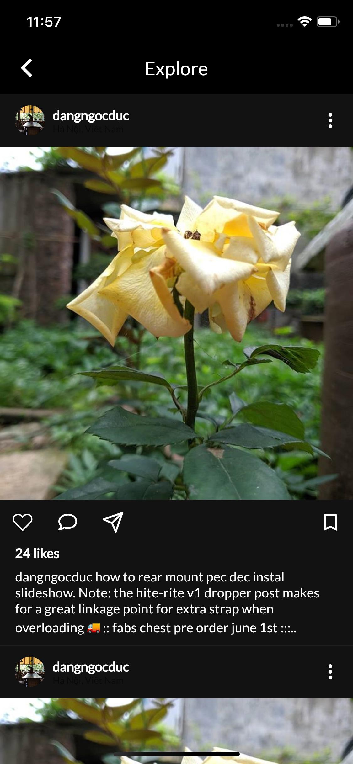 A Flutter Instagram UI Clone Support Night Mode