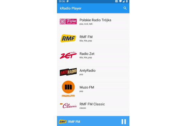 Another Awesome Online Radio Player with flutter