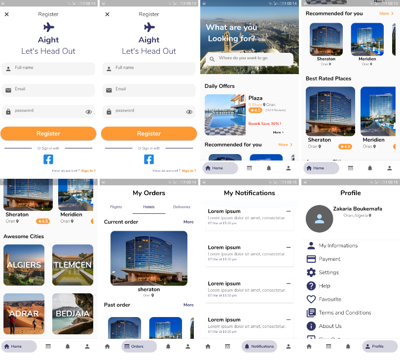 A flutter UI Challenge for Traveling