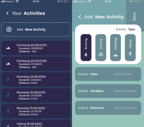 A Flutter app visualizing your sports activity data
