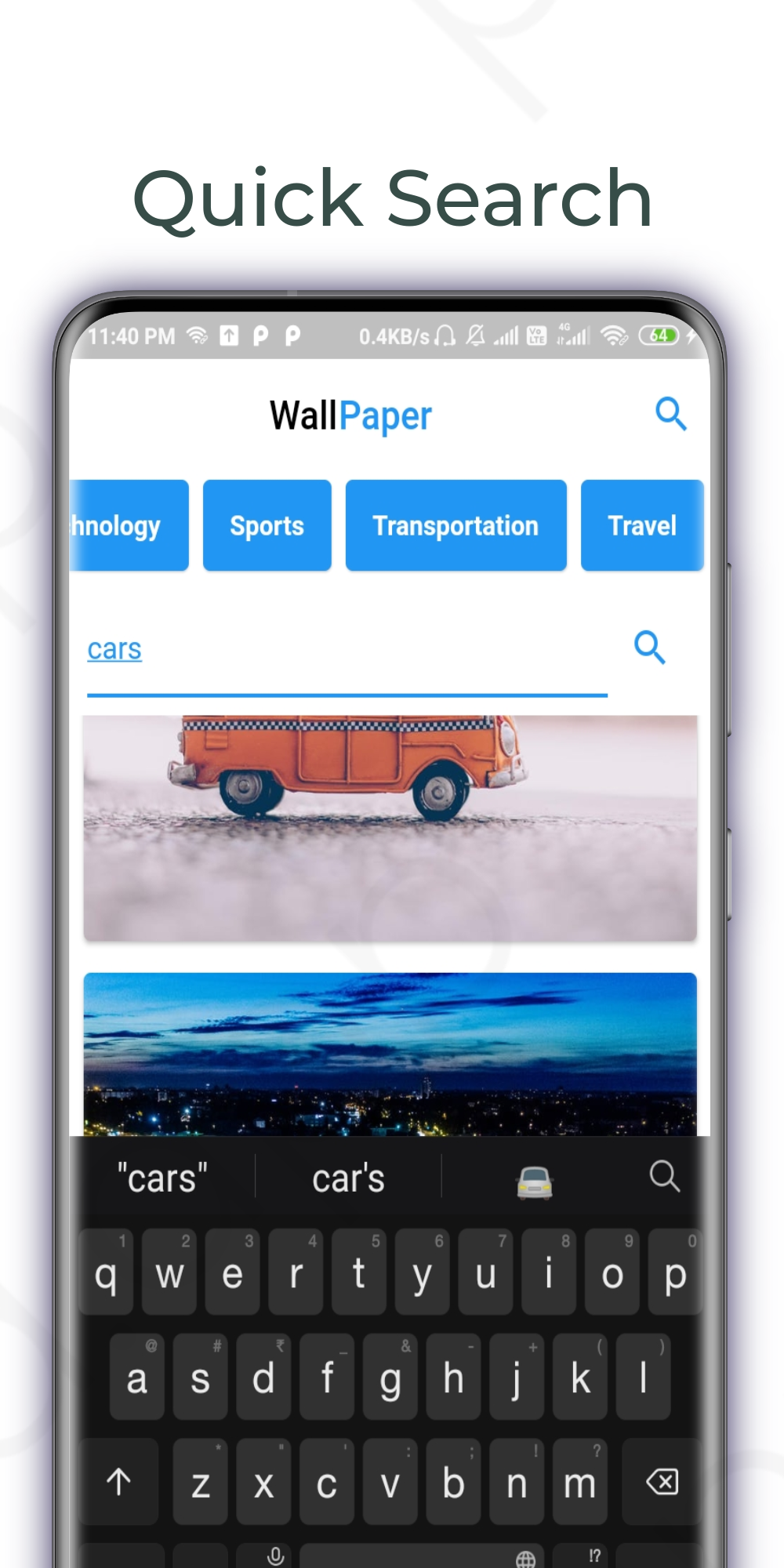 A Simple Wallpaper App with flutter