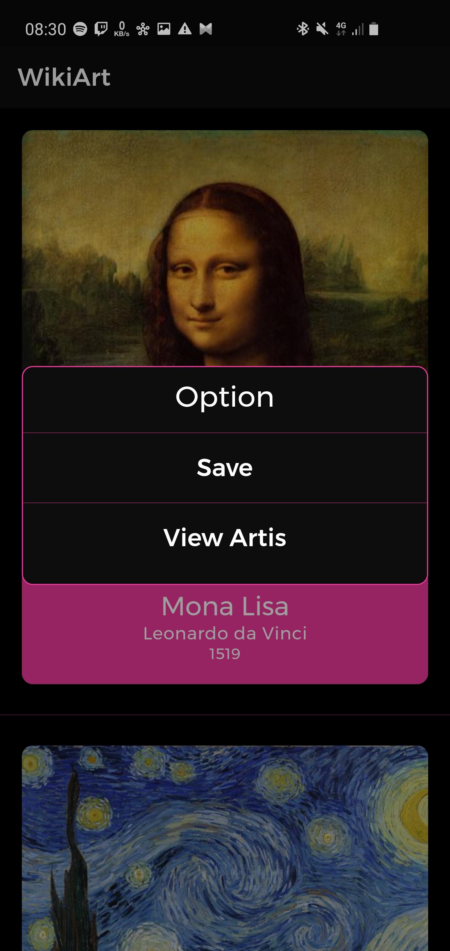A Wiki Art App made with Flutter