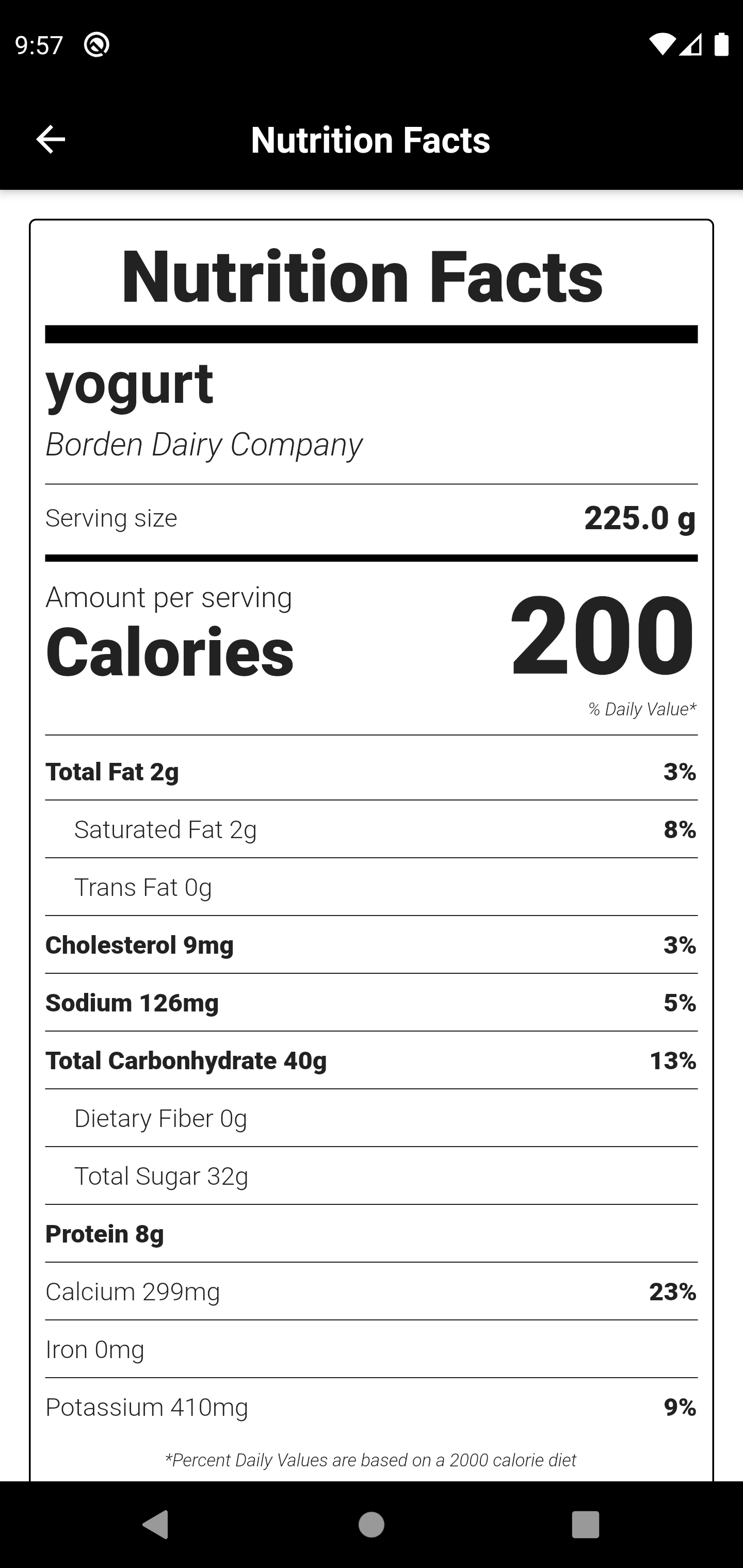 A Simple Nutrition Facts App using BLoC Architecture with flutter