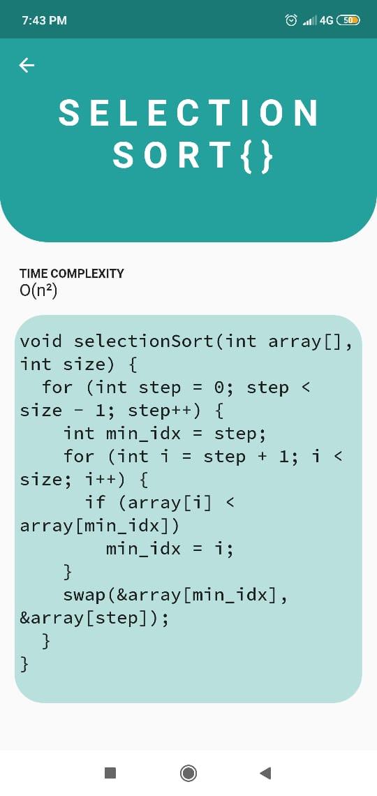 A new Flutter application for algorithms