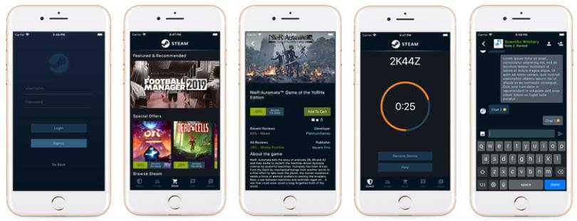 An UI-only Steam client app built with Flutter