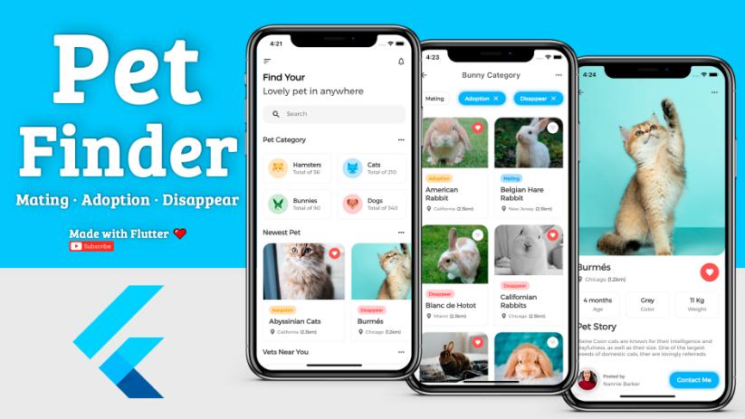 Pet Finder App with Flutter + Firebase + Hasura