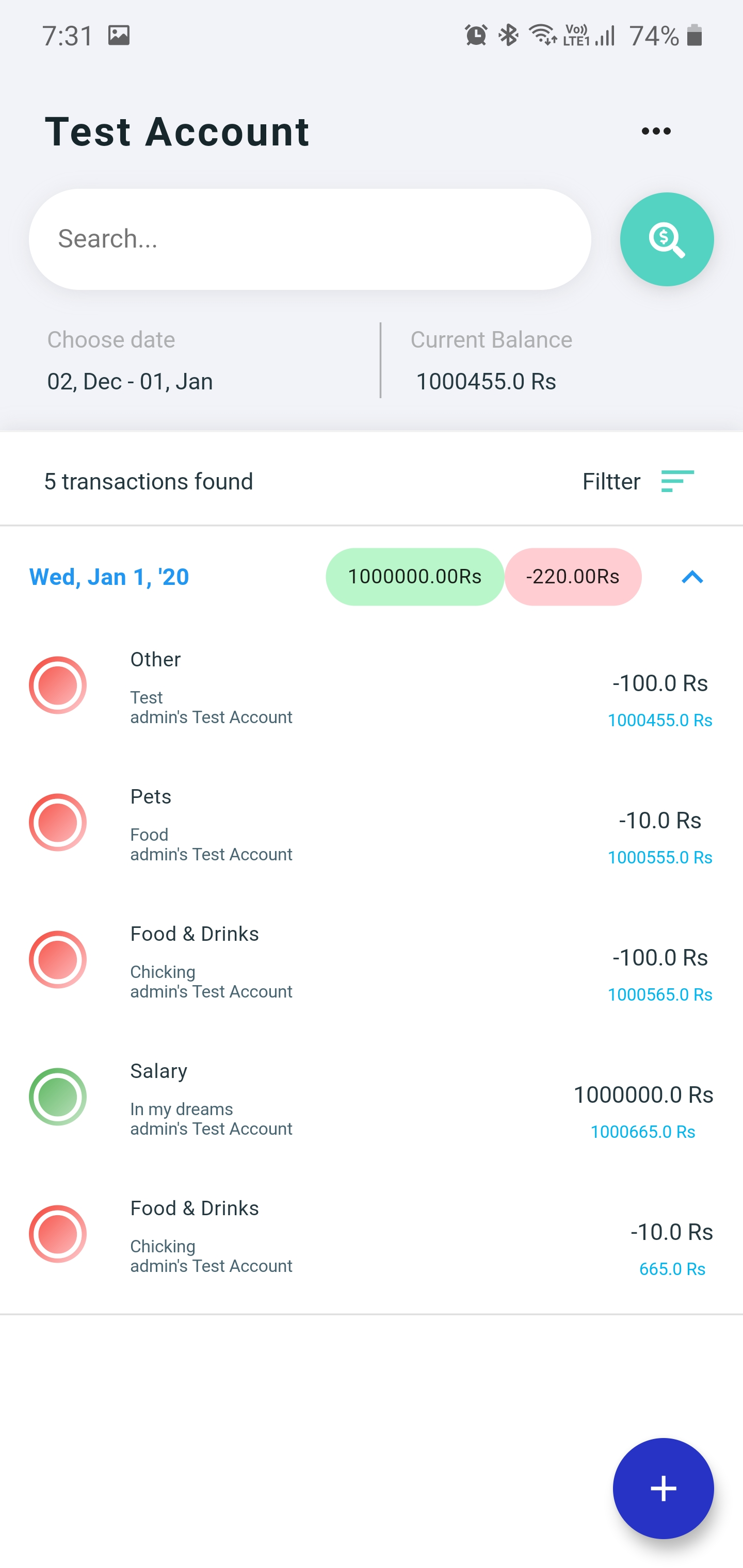 A Family finance management app with flutter