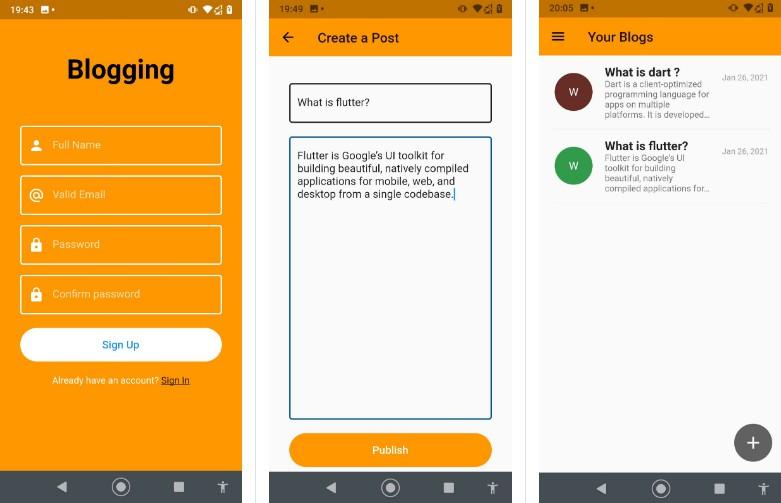 A Blogging app made by flutter