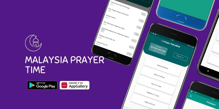 Waktu solat app for Android Made with Flutter