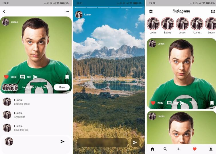 A redesigned instagram mobile app made with flutter