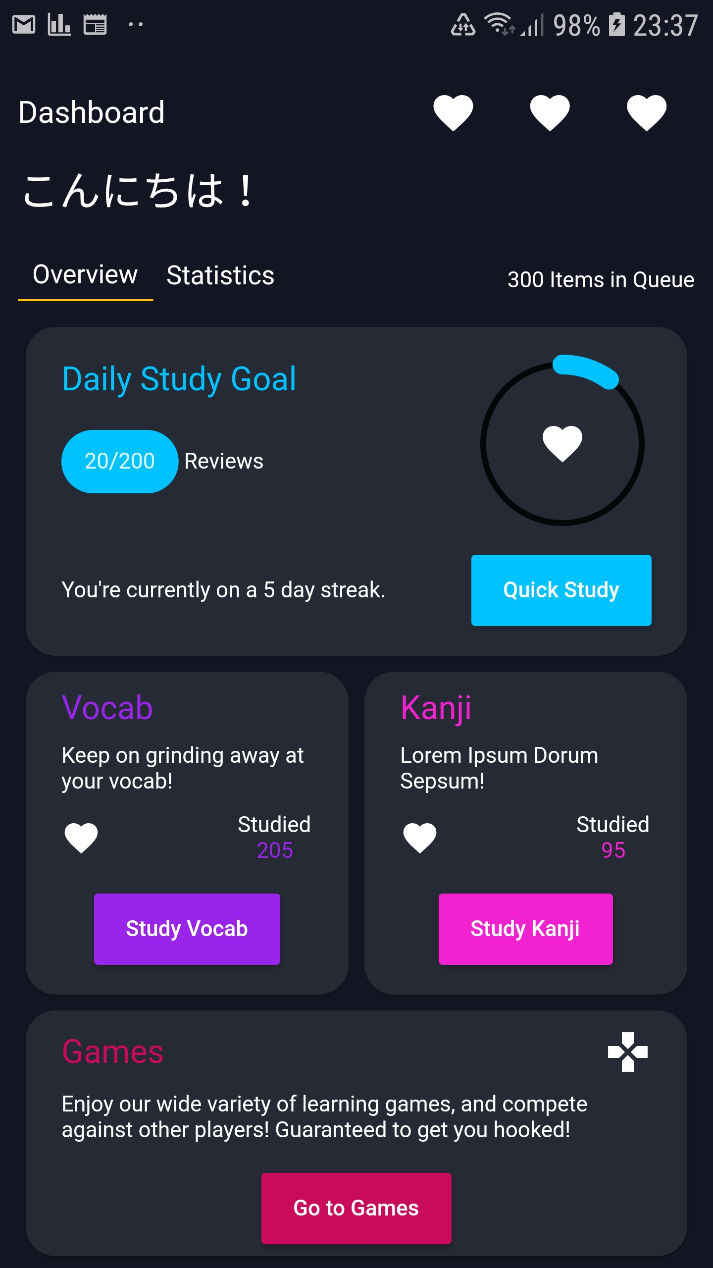 Flashcard and Kanji writing Flutter App