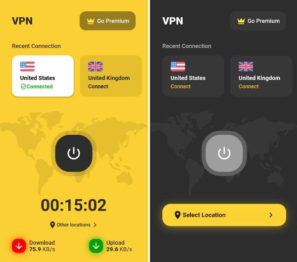 A VPN app template built with Flutter