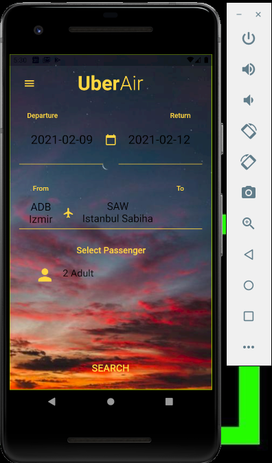 A simple flight booking app build with flutter