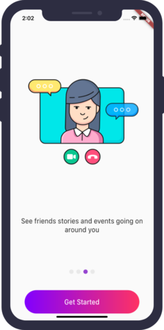 A beautiful animated onboarding app with flutter