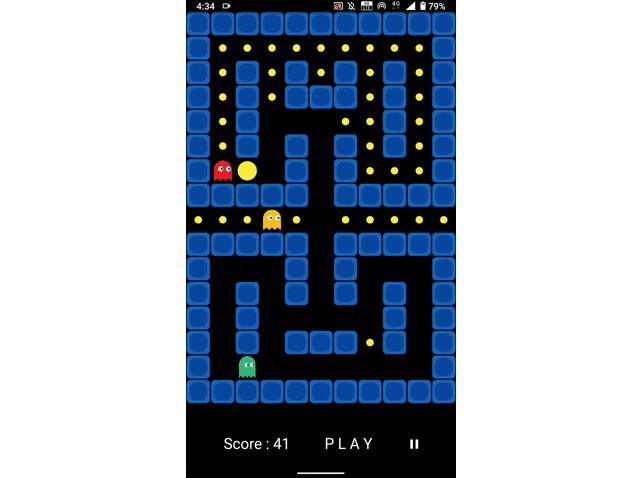 Vintage Pacman Game developed in Flutter
