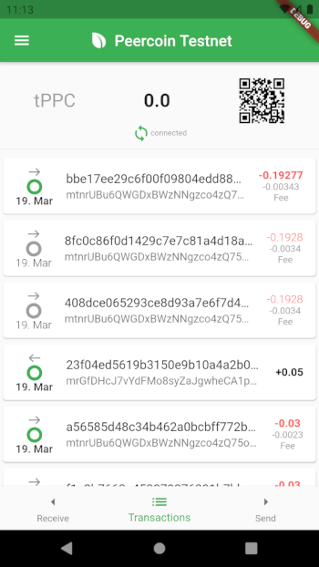 Wallet for Peercoin and Peercoin Testnet written in Flutter