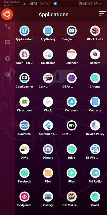 An Android Ubuntu Launcher build with Flutter