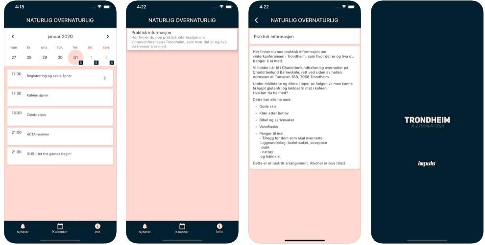 An app for the Impuls Festival written in Flutter