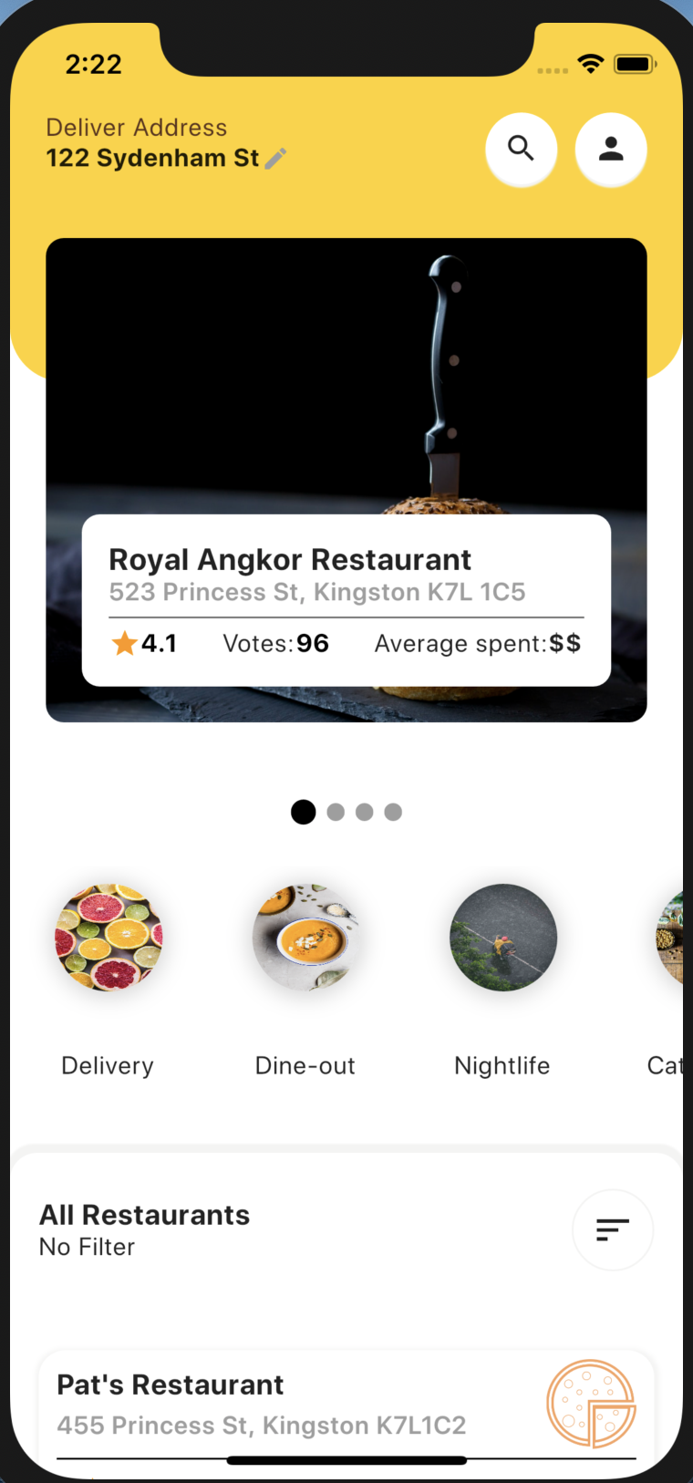 Food Delivery App made by Flutter and Bloc