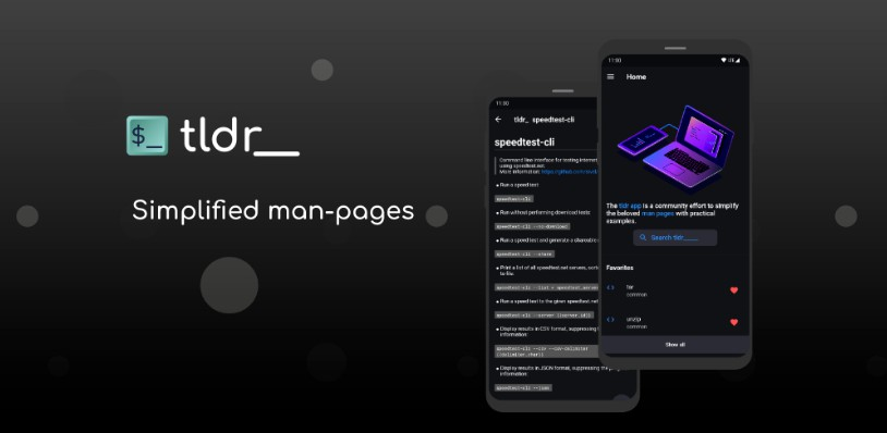 A simplified man-pages tldr.sh client build with flutter