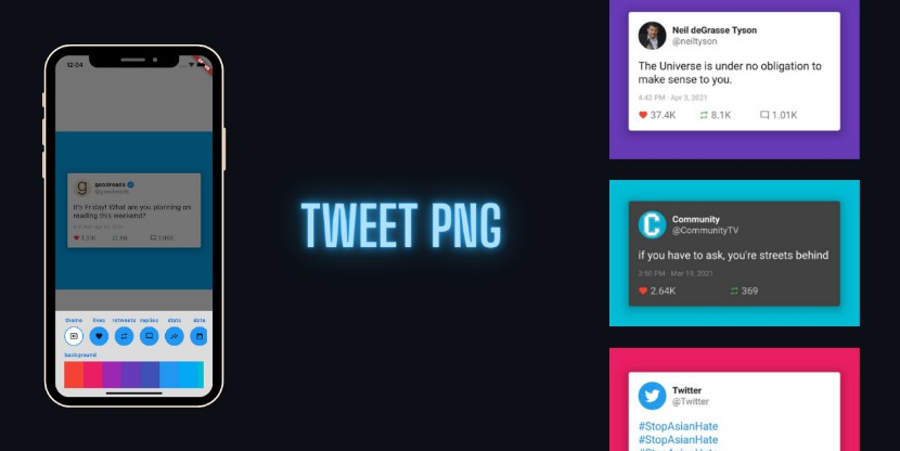 A flutter app to generate beautiful screenshots of tweets from twitter
