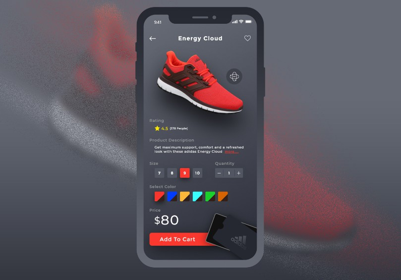 Adidas Shoes Ecommerce App UI With Flutter