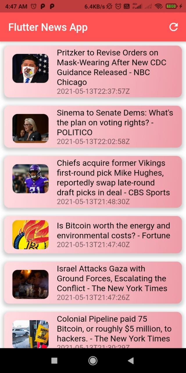 A News App in Flutter using the newsapi.org API and using Bloc