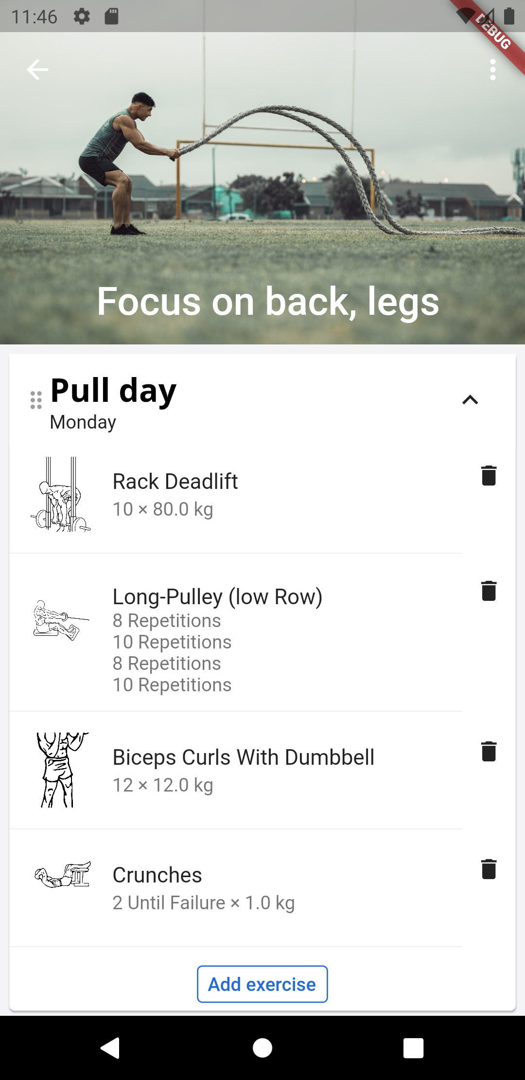 Mobile app for wger Workout Manager with flutter