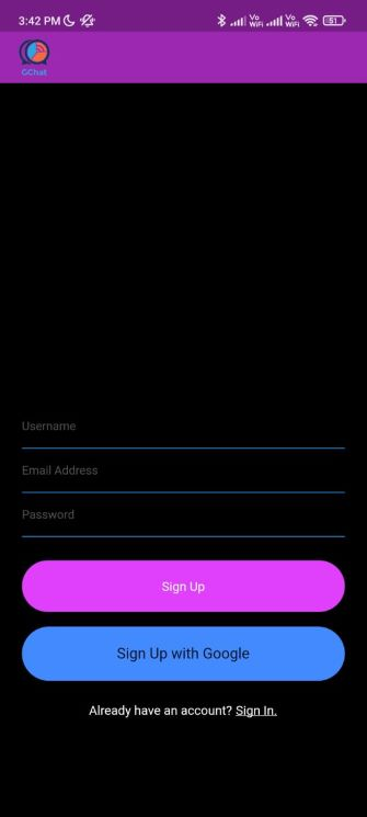 A chatting application developed using Flutter and firebase for 2 users