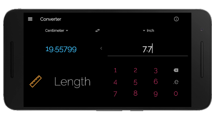 A unit converter app created with Flutter
