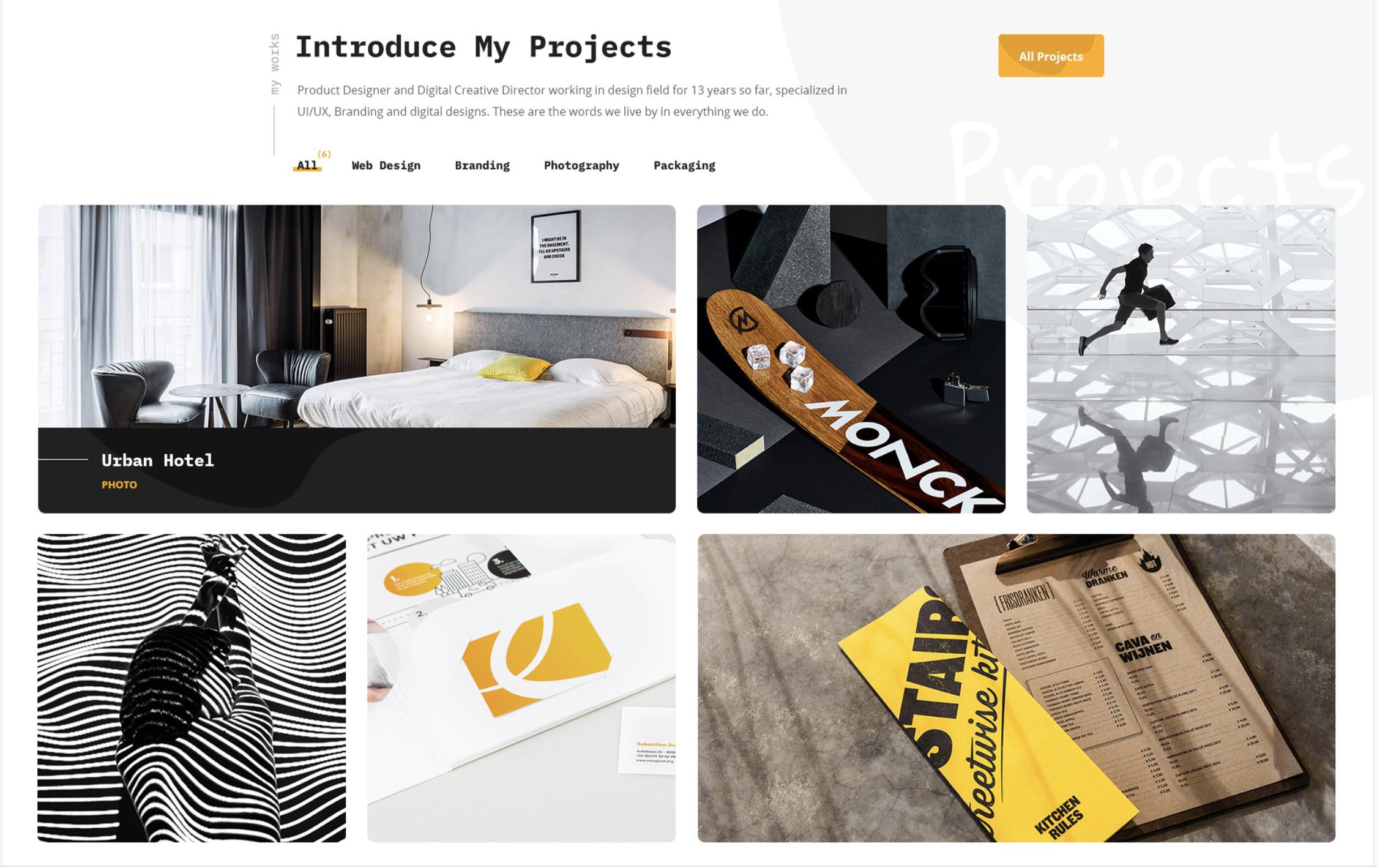 A beautiful portfolio design built using flutter