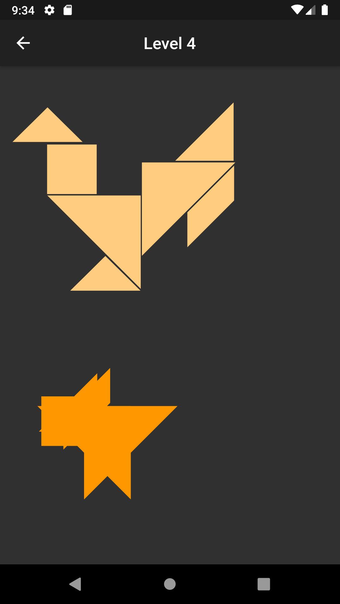 Tangram App created using flutte