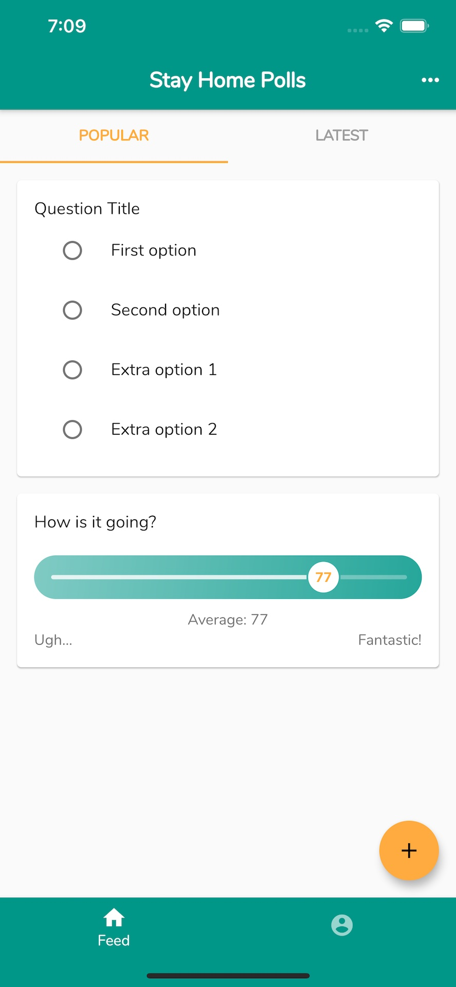 An app for sharing polls in an interactive and anonymous way with flutter