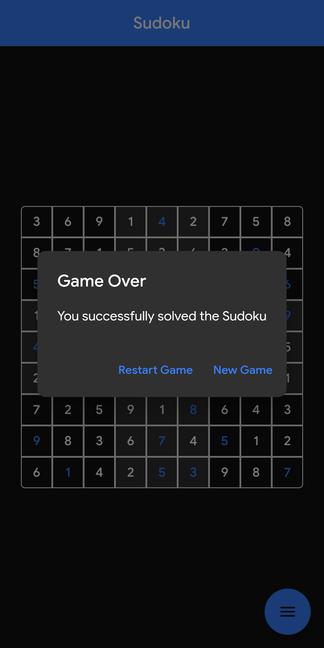 A fully fledged Sudoku game written in Flutter
