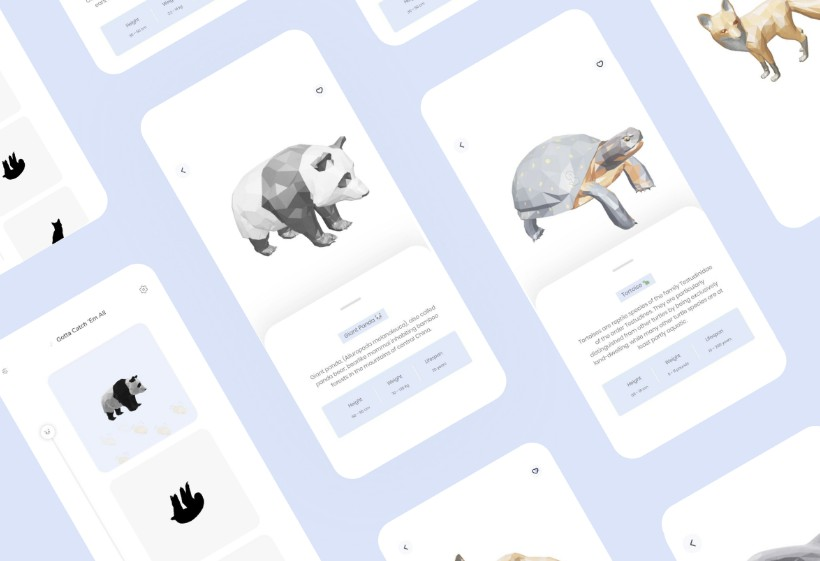 A simple and beautiful app that lists 3d model of animals with flutter