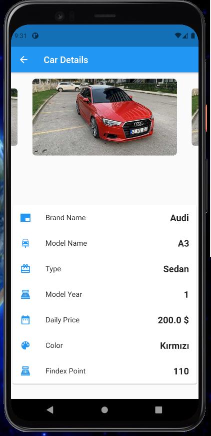 A Rent a Car App Build With Flutter