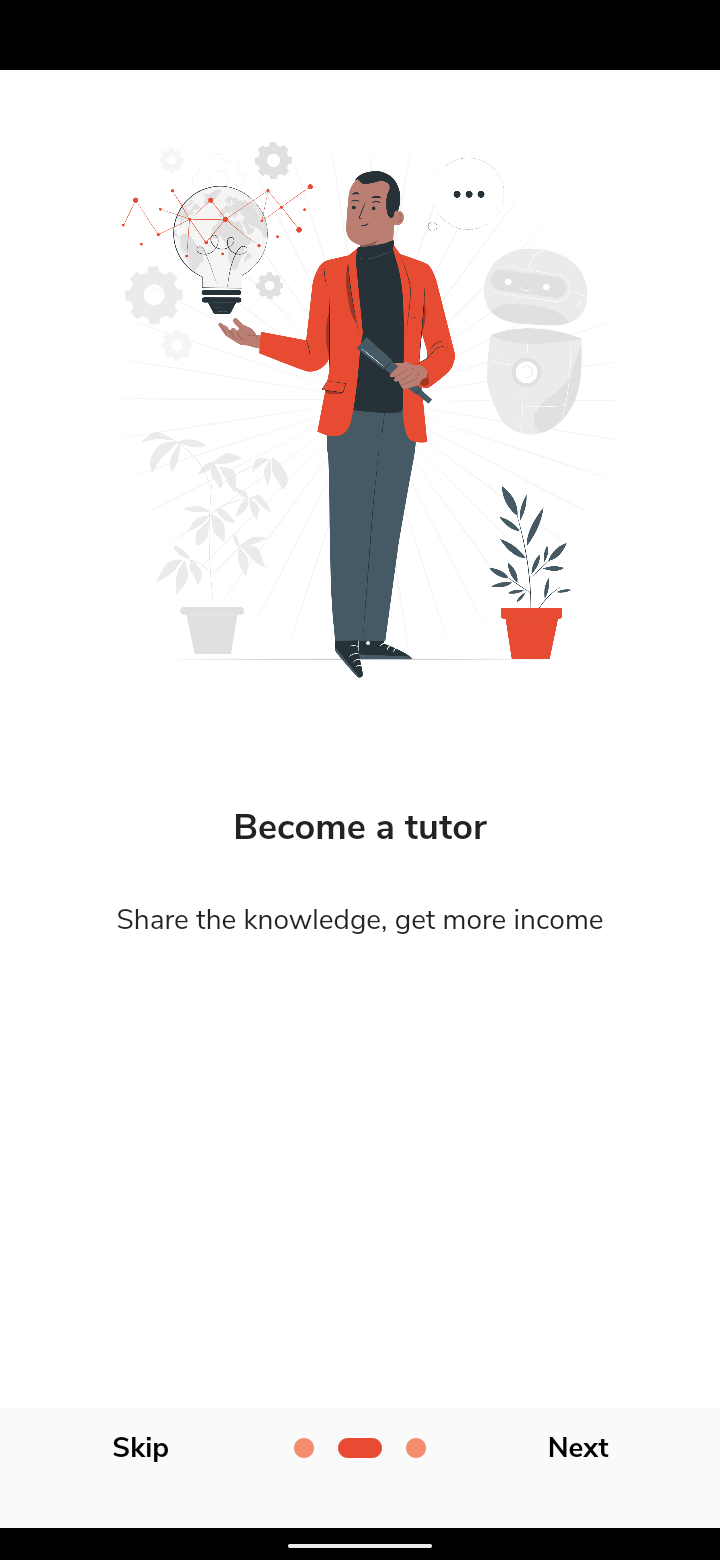 A flutter app bridges the Gap between Tutors and Learners