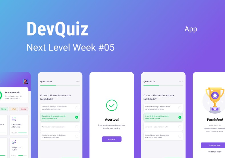 A project created during the RocketSeat's NLW#5 event with the Flutter
