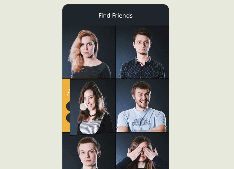 A Flutter app with flip animation to view profiles of friends