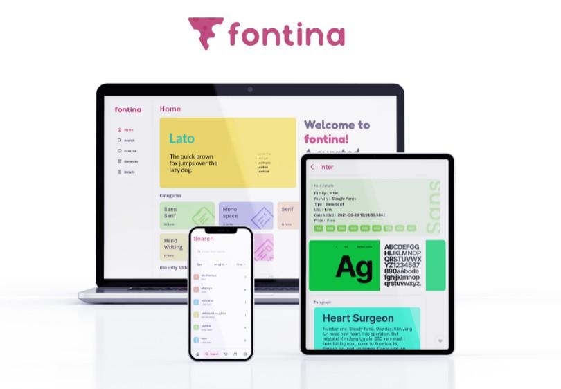 A font catalogue app made with flutter
