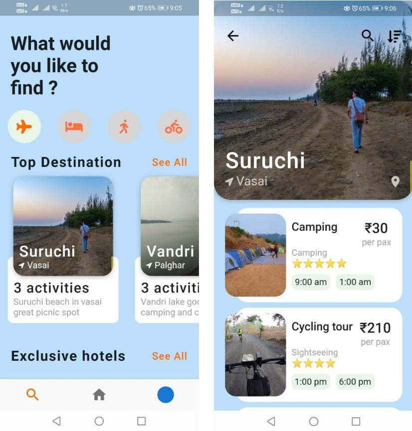 A tourism mobile app using flutter